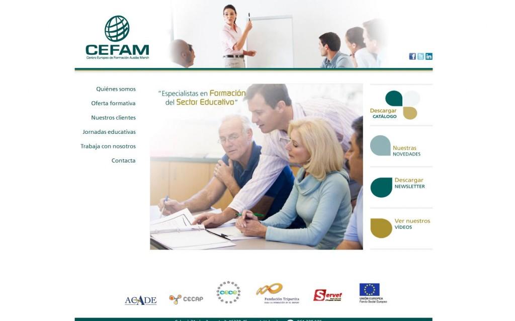 El Centro Europeo de Formación Ausiàs March (CEFAM).Diseño web por Malabar. (MADRID)