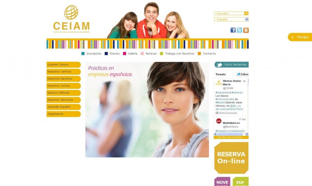 Organización dedicada a la enseñanza y promoción del español como lengua extranjera. Diseño web por Malabar. (MADRID)