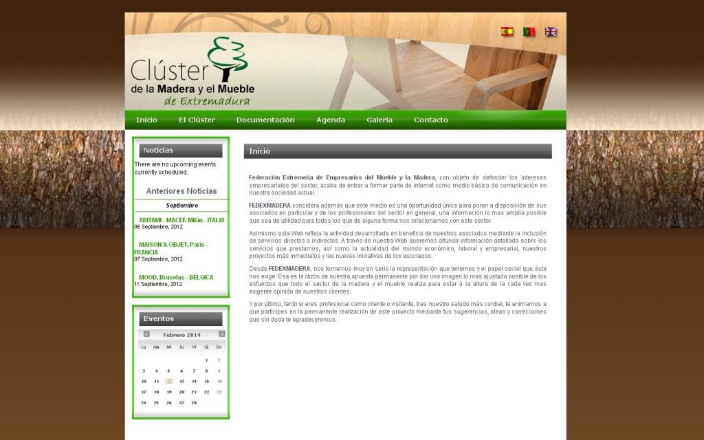 Federación Extremeña de Empresarios del Mueble y la Madera, con objeto de defender los intereses empresariales del sector, acaba de entrar a formar parte de Internet como medio básico de comunicación en nuestra sociedad actual.(CÁCERES)