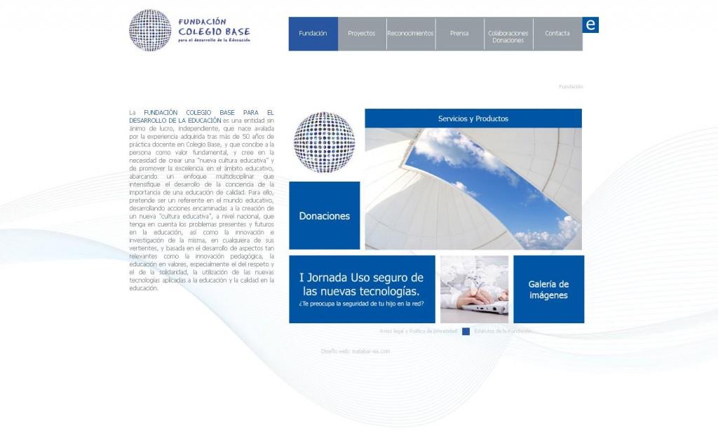 FUNDACIÓN COLEGIO BASE PARA EL DESARROLLO DE LA EDUCACIÓN. Diseño web por Malabar. (MADRID)