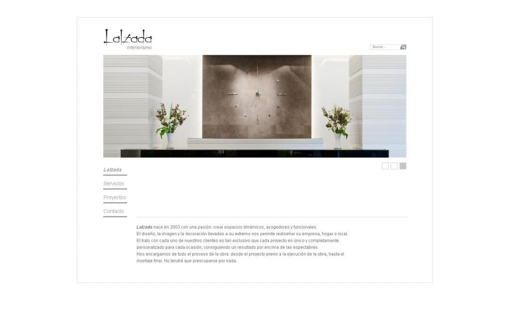 Lalzada interiorismo. Diseño de interiores. Diseño web por Malabar.(MADRID)