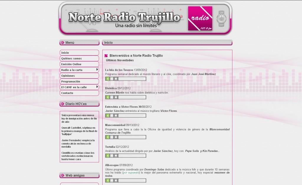 Norte Radio Trujillo. Emisora de radio de Trujillo. (TRUJILLO)
